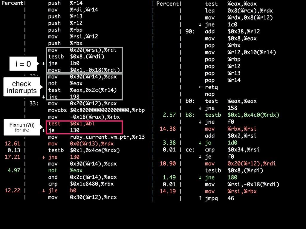 i = 0 c Fixnum?(i) for #< check interrupts