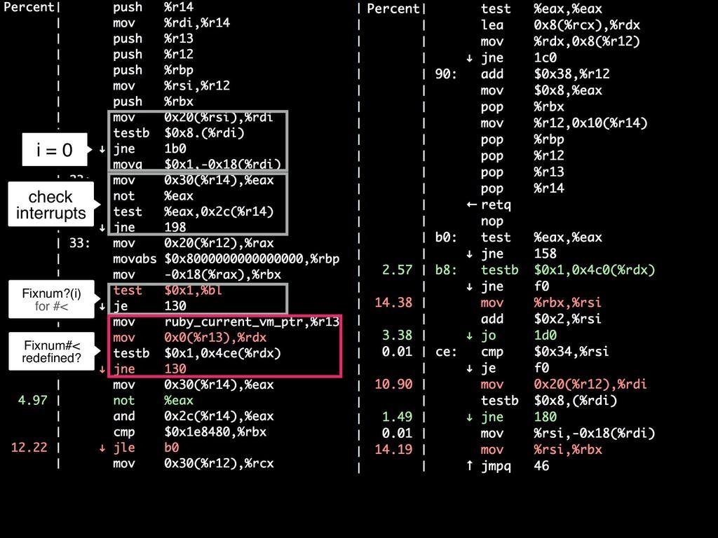 i = 0 c check interrupts Fixnum#< redefined? Fix...