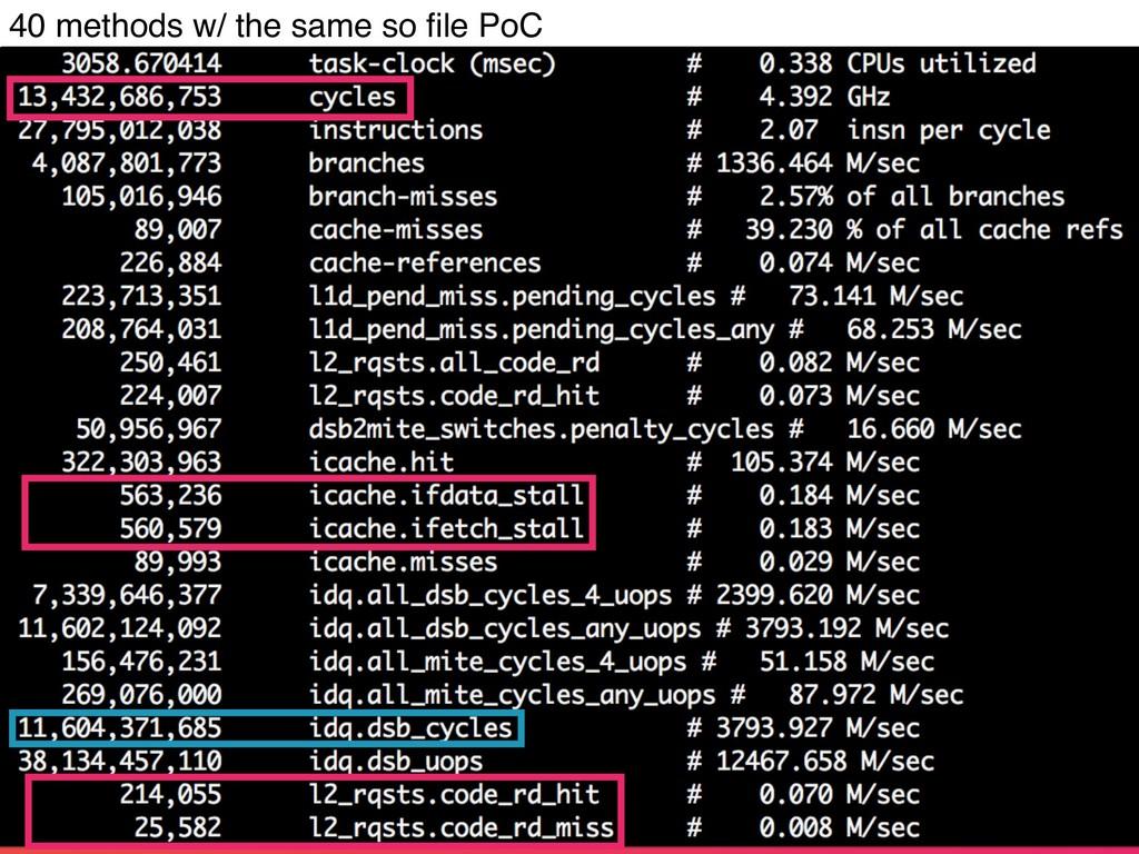 40 methods w/ the same so file PoC