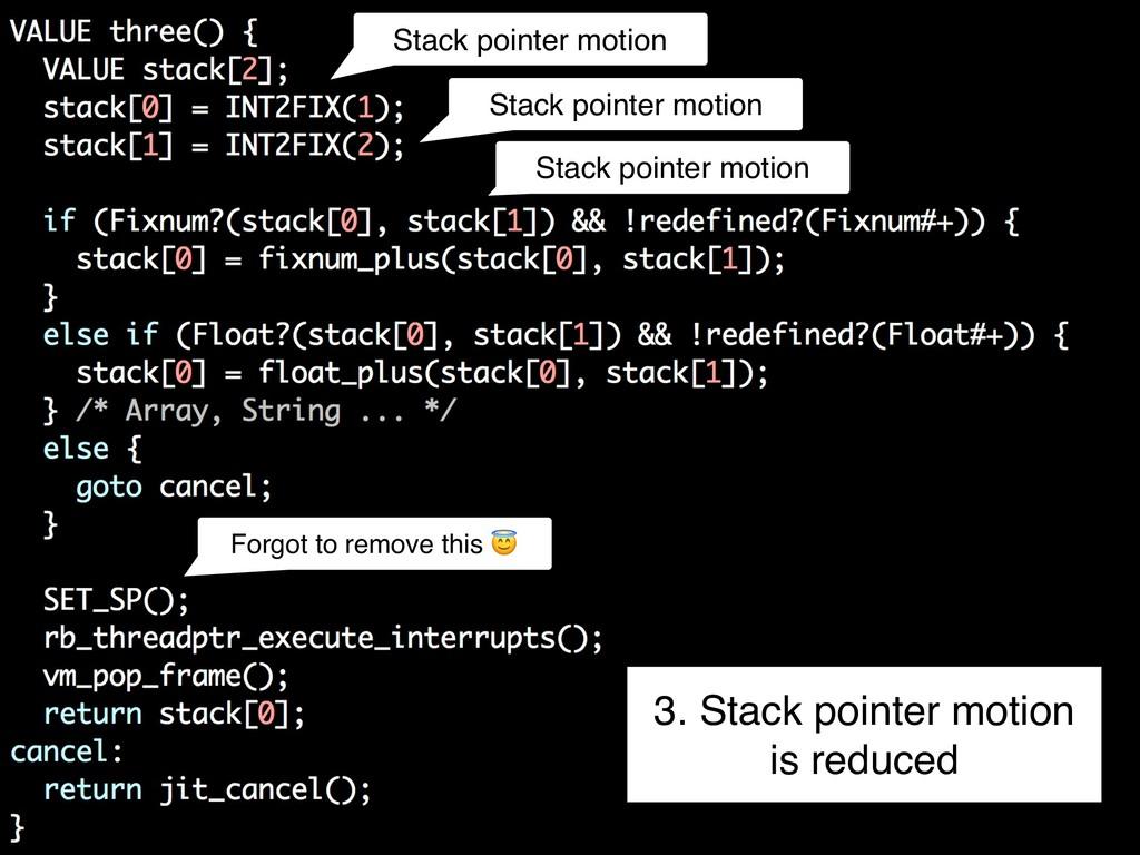 Stack pointer motion Stack pointer motion Stack...