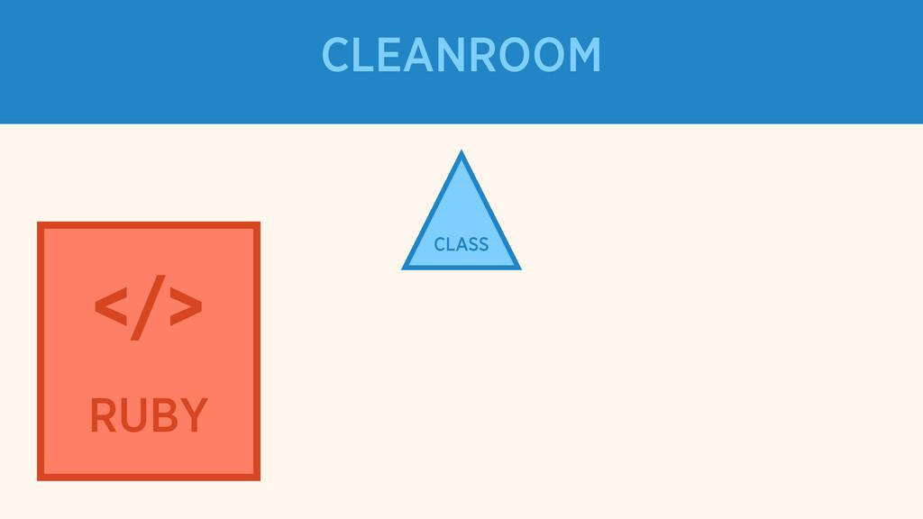 CLASS </> RUBY CLEANROOM
