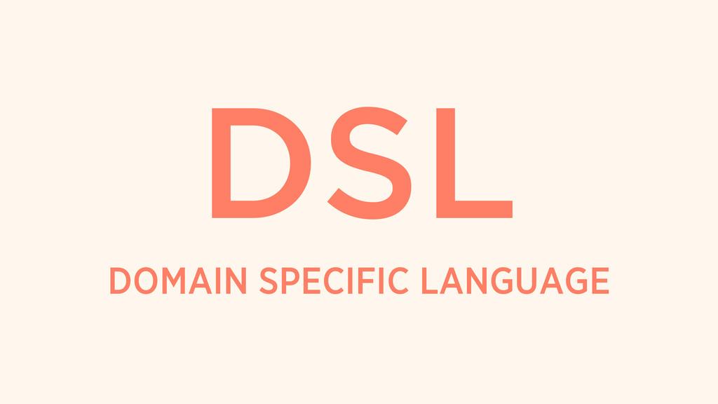 DOMAIN SPECIFIC LANGUAGE DSL