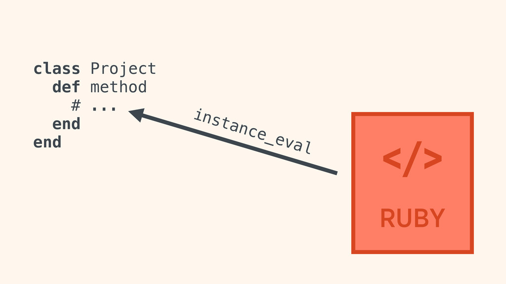 class Project def method # ... end end instance...