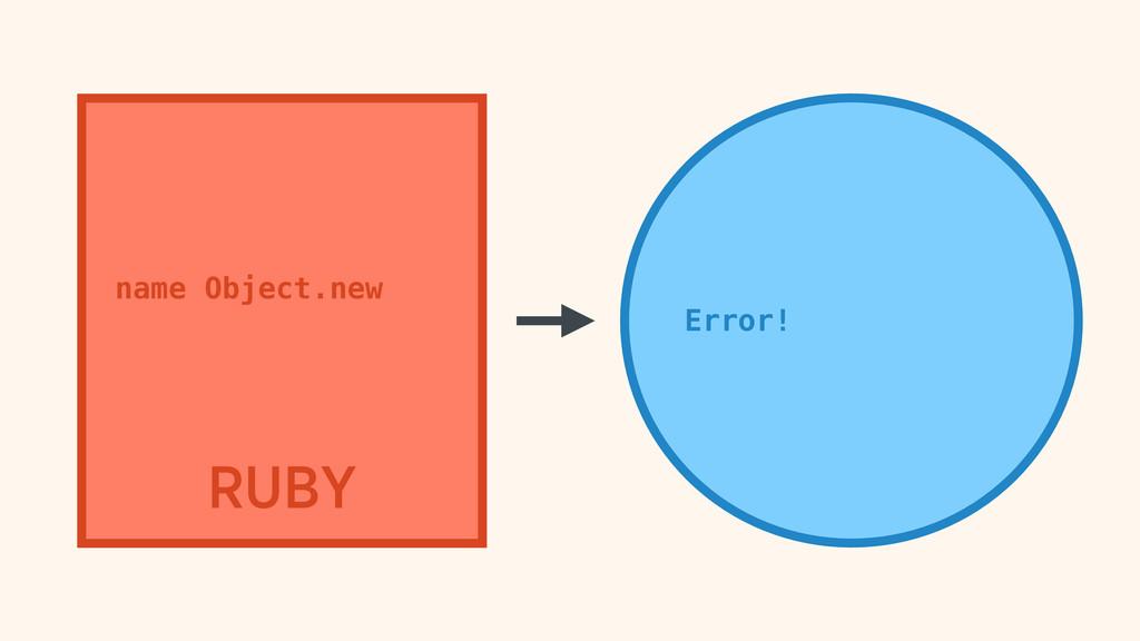 RUBY name Object.new Error!