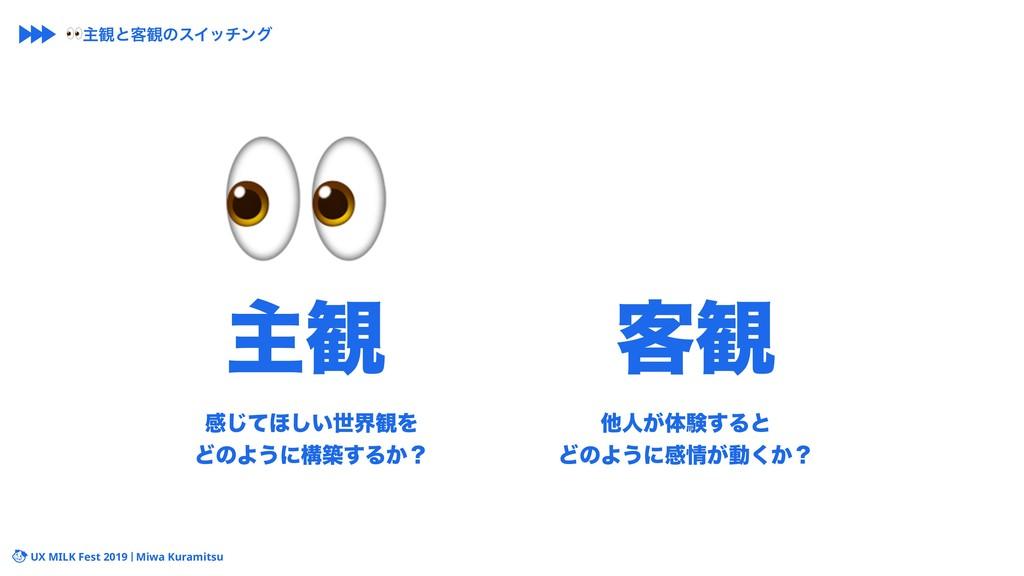 UX MILK Fest 2019 Miwa Kuramitsu ײͯ͡΄͍͠ੈք؍Λ ͲͷΑ...