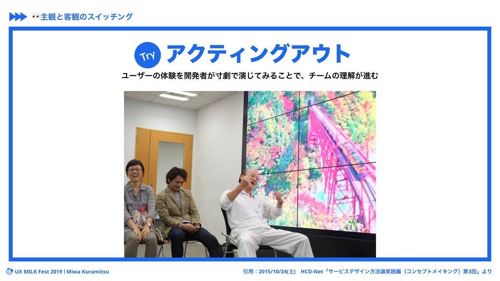 UX MILK Fest 2019 Miwa Kuramitsu ΞΫςΟϯάΞτ Ϣʔβʔ...