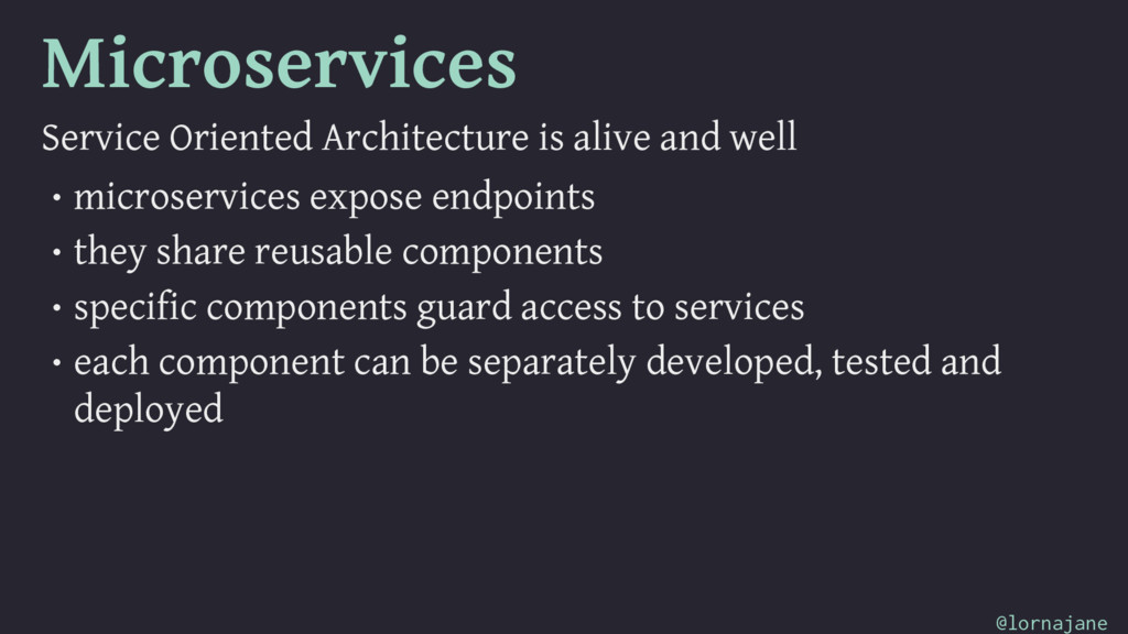 Microservices Service Oriented Architecture is ...
