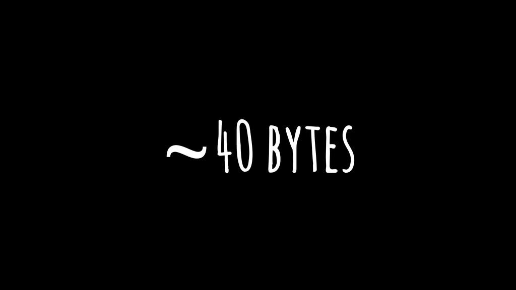 ~40 bytes
