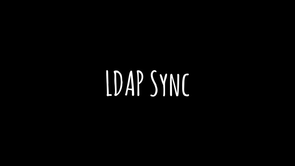 LDAP Sync