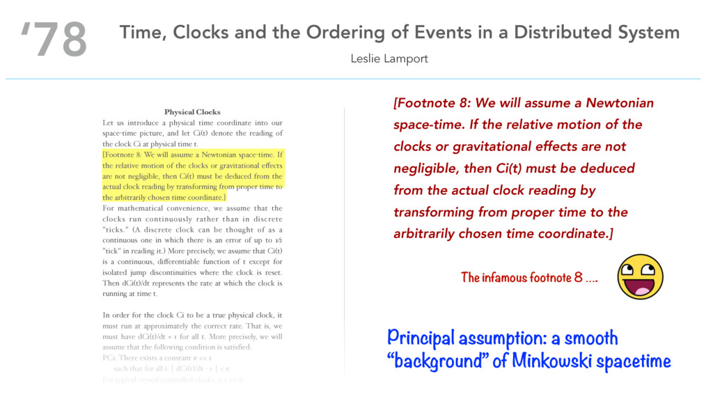 Physical Clocks Let us introduce a physical tim...