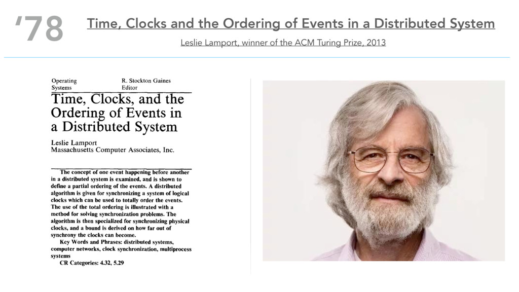 Leslie Lamport, winner of the ACM Turing Prize,...