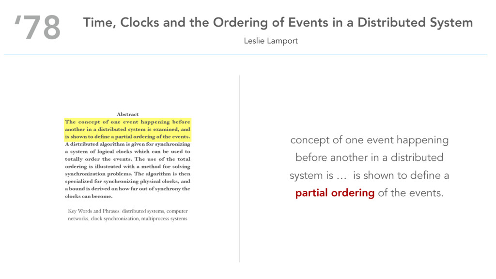 Leslie Lamport '78 Time, Clocks and the Orderin...