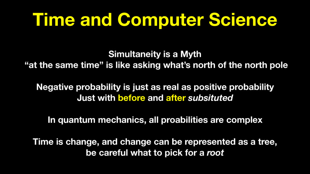 Time and Computer Science Simultaneity is a Myt...