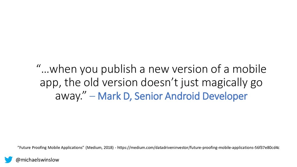 """""""…when you publish a new version of a mobile ap..."""