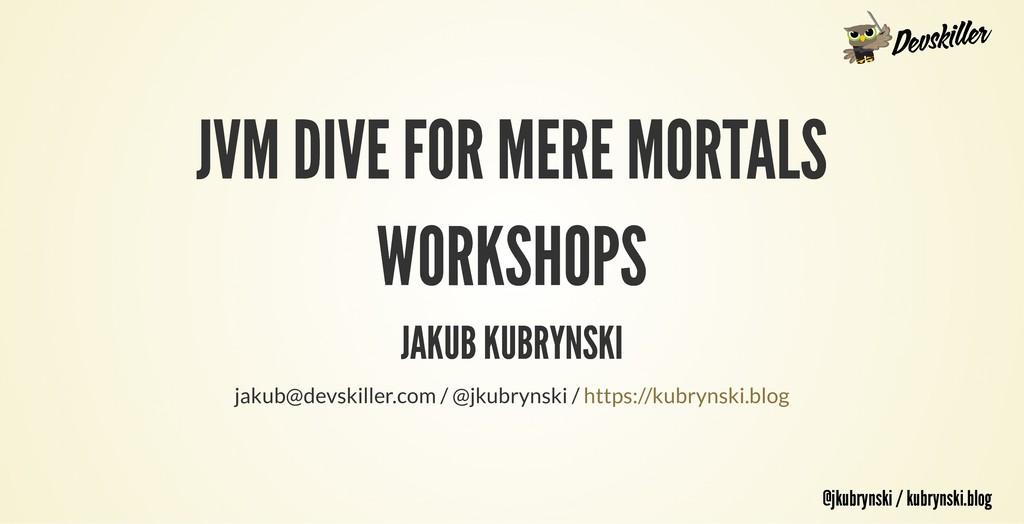 @jkubrynski / kubrynski.blog @jkubrynski / kubr...