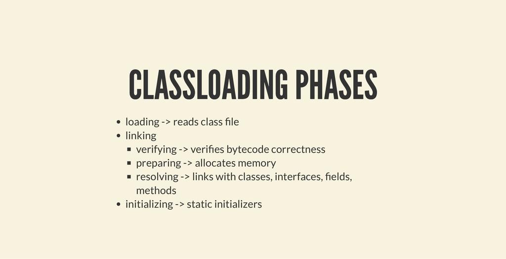 CLASSLOADING PHASES CLASSLOADING PHASES loading...