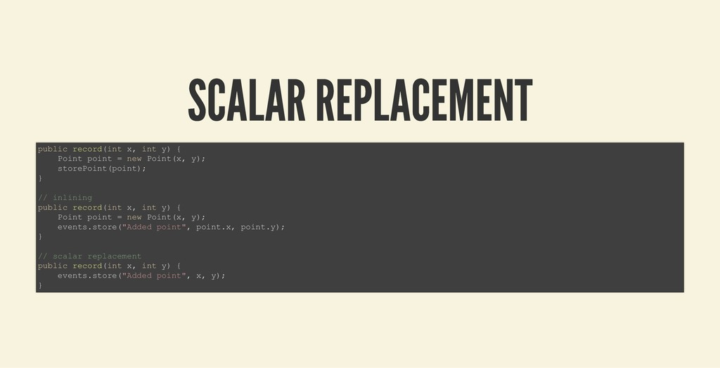 SCALAR REPLACEMENT SCALAR REPLACEMENT public re...