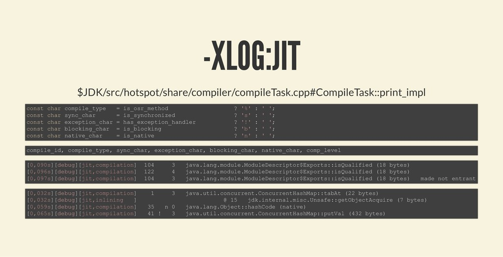 -XLOG:JIT -XLOG:JIT $JDK/src/hotspot/share/comp...