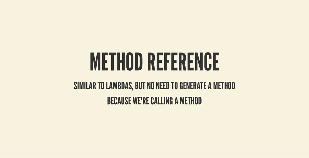 METHOD REFERENCE METHOD REFERENCE SIMILAR TO LA...