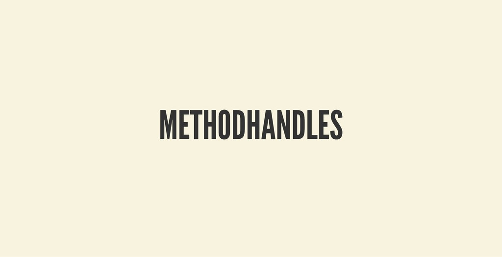 METHODHANDLES METHODHANDLES