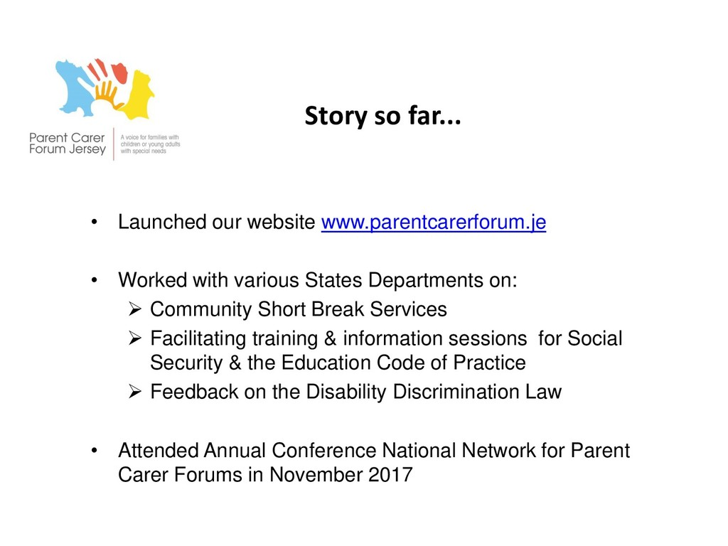 Story so far... • Launched our website www.pare...