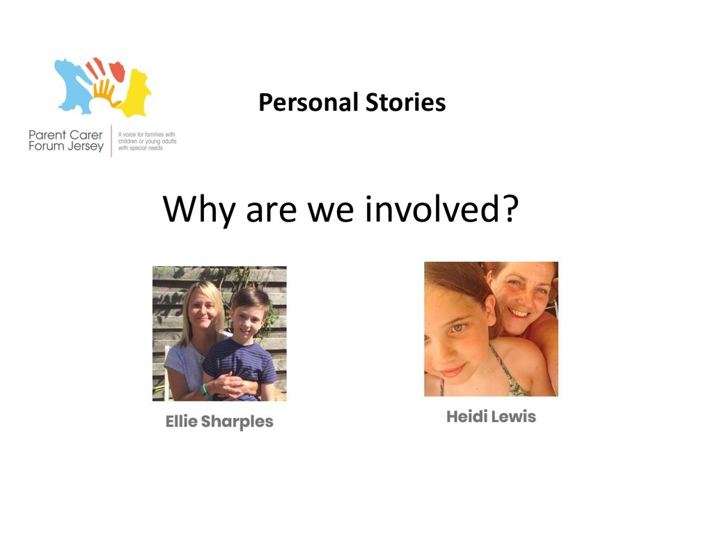 Personal Stories Why are we involved?