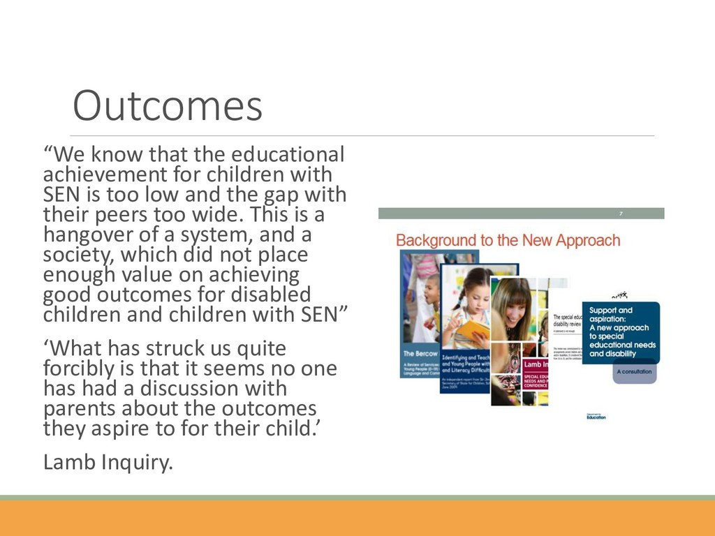 """Outcomes """"We know that the educational achievem..."""