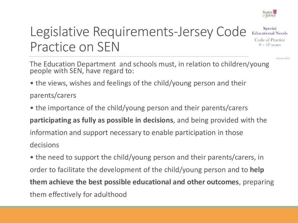 Legislative Requirements-Jersey Code of Practic...