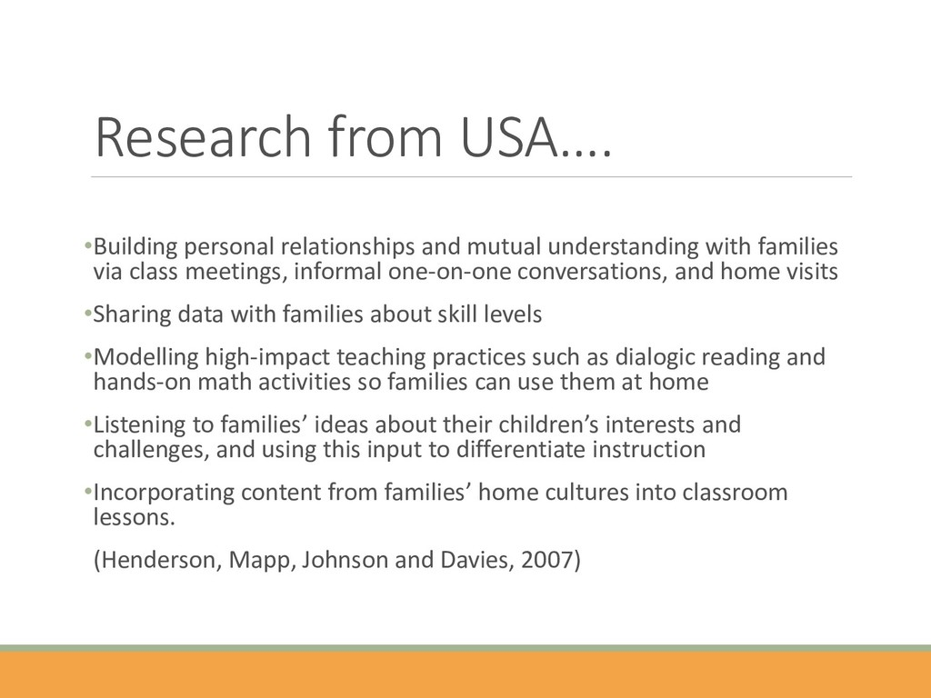 Research from USA…. •Building personal relation...