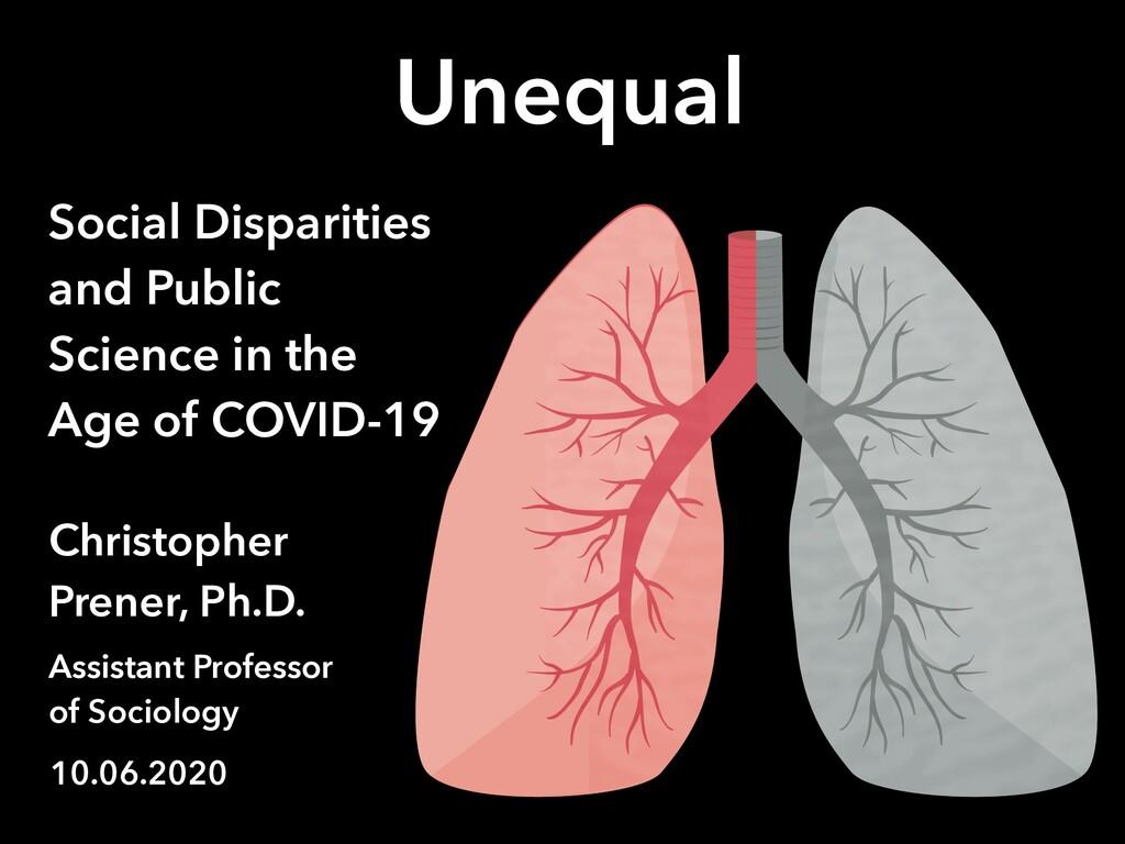 Unequal Access Social Disparities and Public Sc...