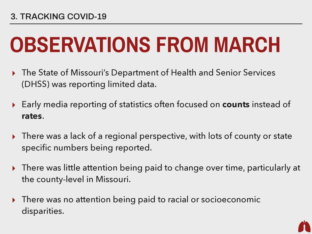 3. TRACKING COVID-19 OBSERVATIONS FROM MARCH ▸ ...
