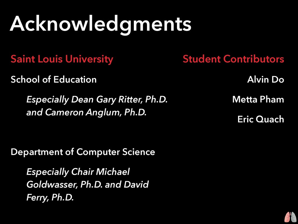 Acknowledgments Saint Louis University School o...