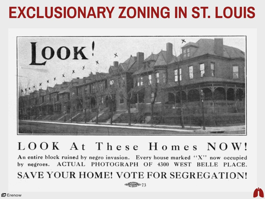 EXCLUSIONARY ZONING IN ST. LOUIS Erenow