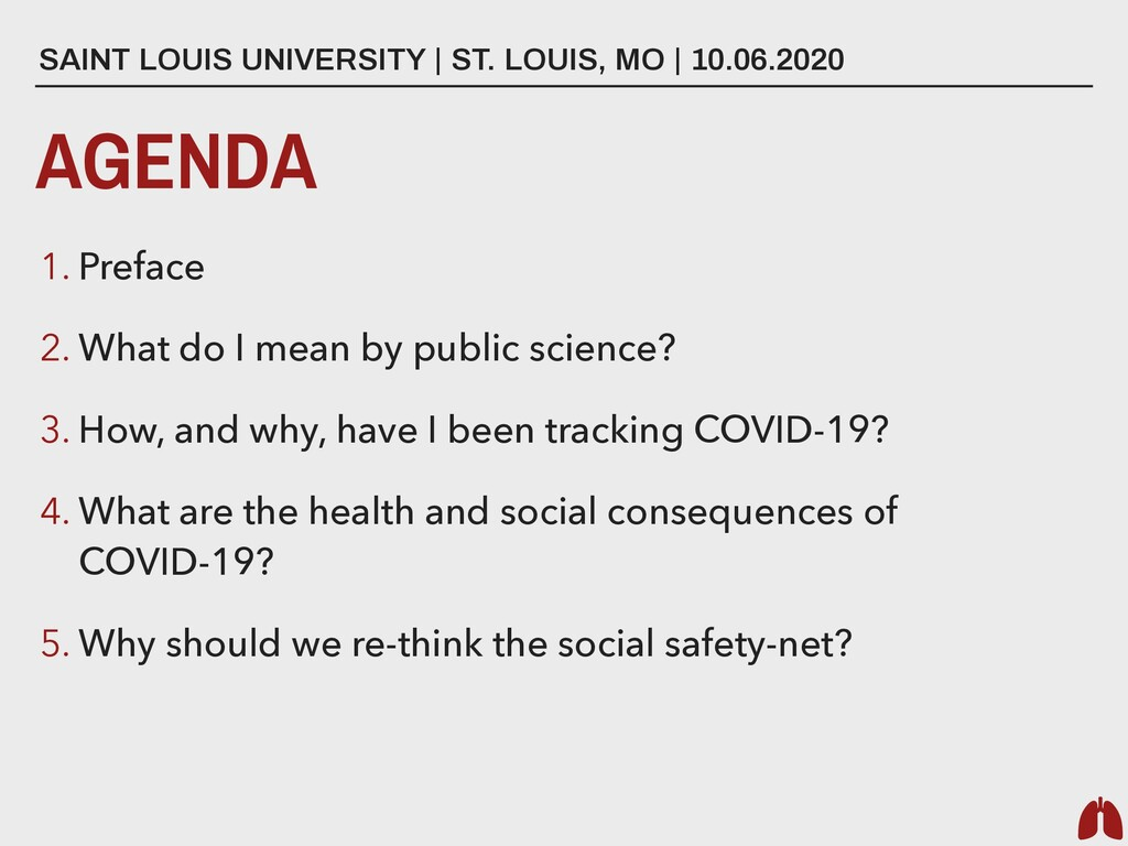 AGENDA 1. Preface 2. What do I mean by public s...