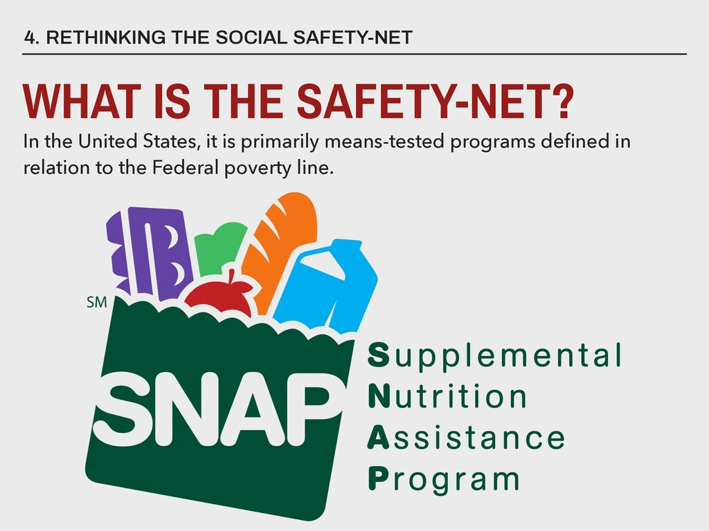 4. RETHINKING THE SOCIAL SAFETY-NET WHAT IS THE...