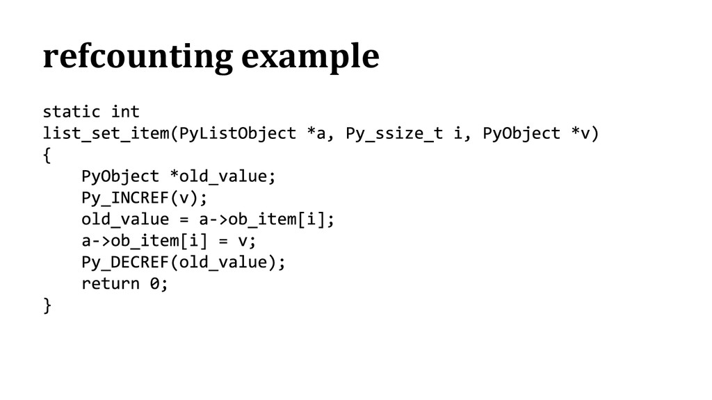 refcounting example