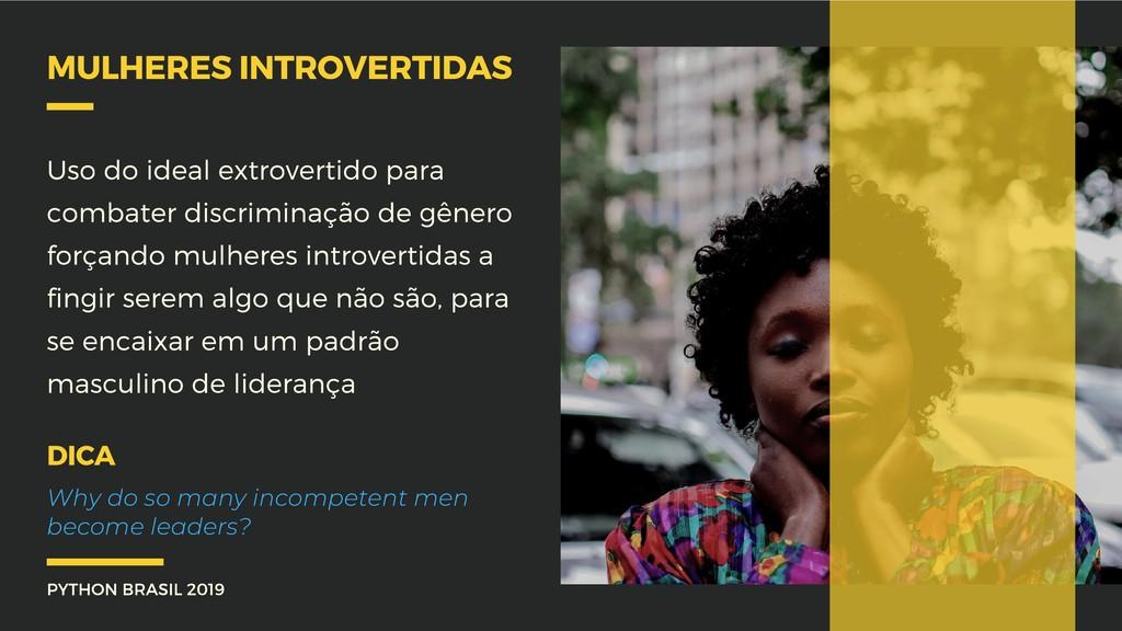 PYTHON BRASIL 2019 MULHERES INTROVERTIDAS Uso d...