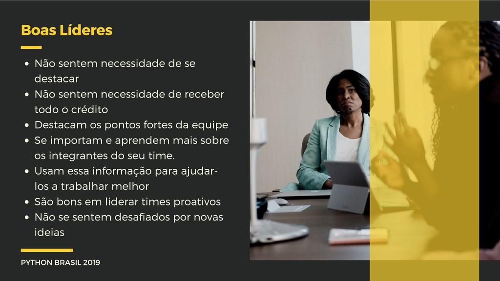 PYTHON BRASIL 2019 Boas Líderes Não sentem nece...