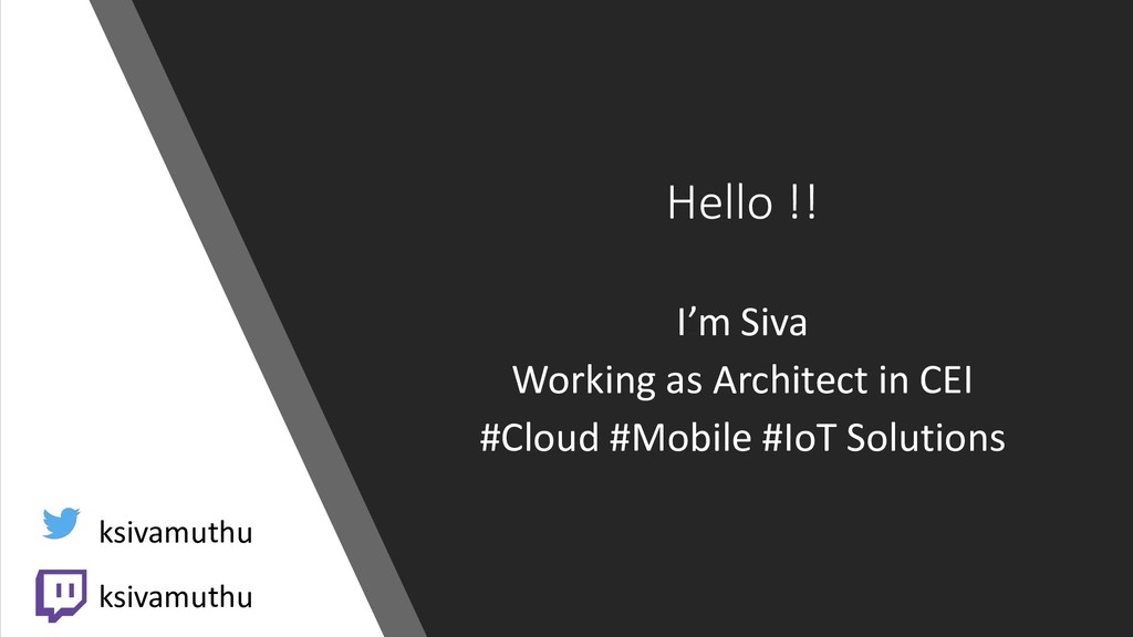 Hello !! I'm Siva Working as Architect in CEI #...