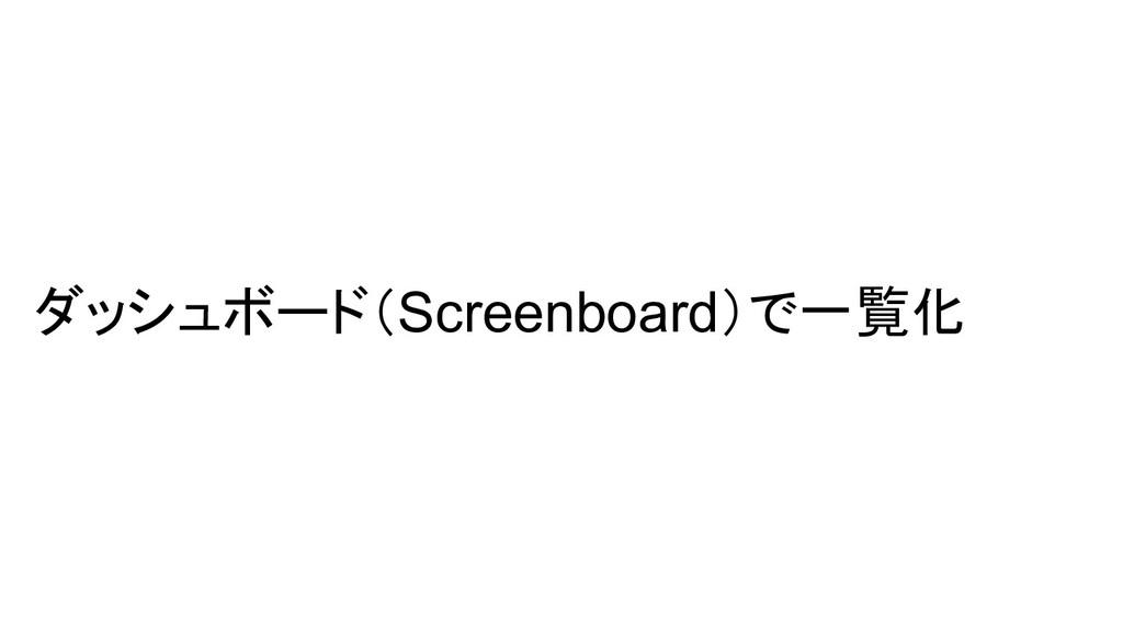 ダッシュボード(Screenboard)で一覧化