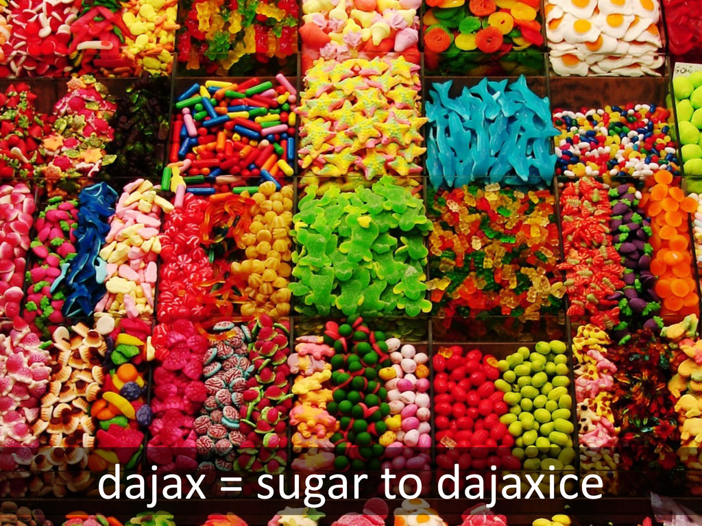dajax = sugar to dajaxice