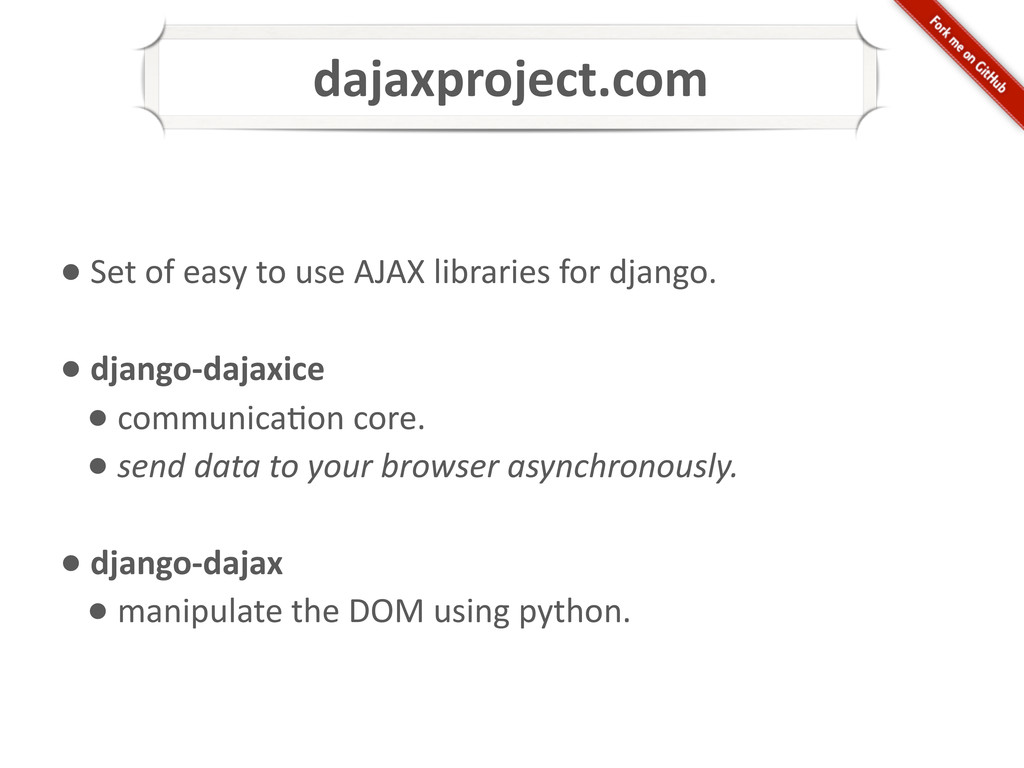 dajaxproject.com • Set of easy to...