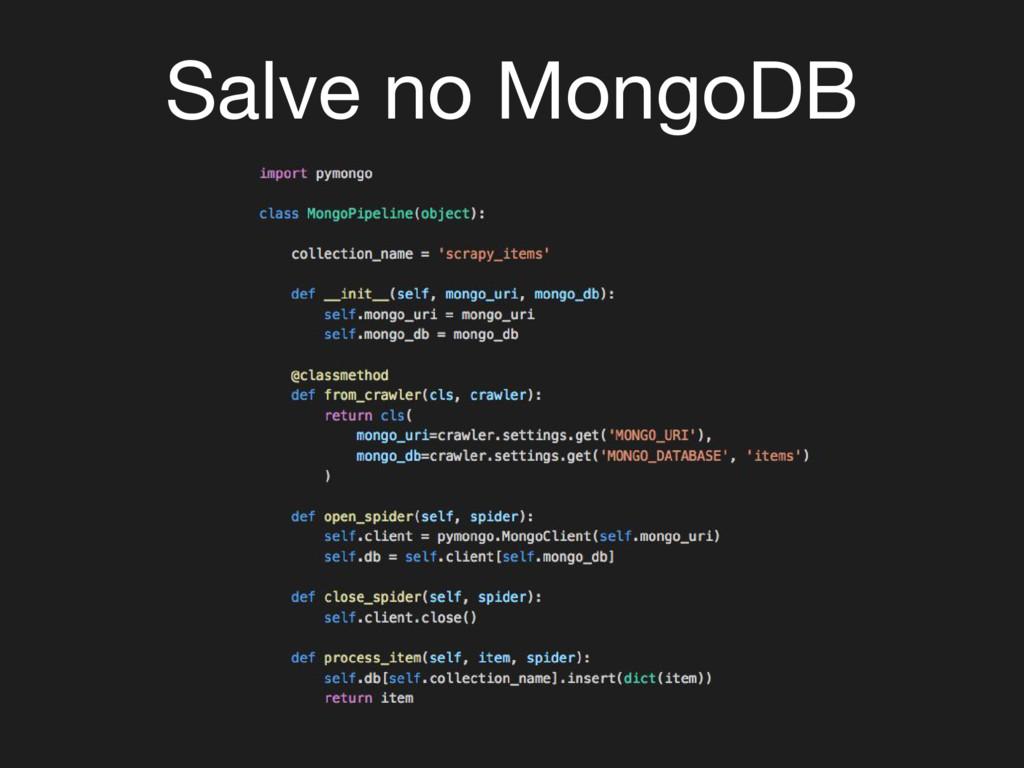 Salve no MongoDB