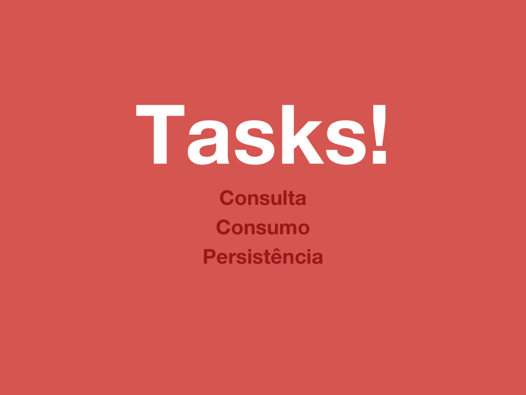 Tasks! Consumo Consulta Persistência