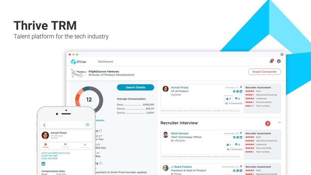 + + + + + + + + + + Thrive TRM Talent platform ...