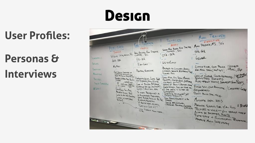 Design User Profiles: Personas & Interviews