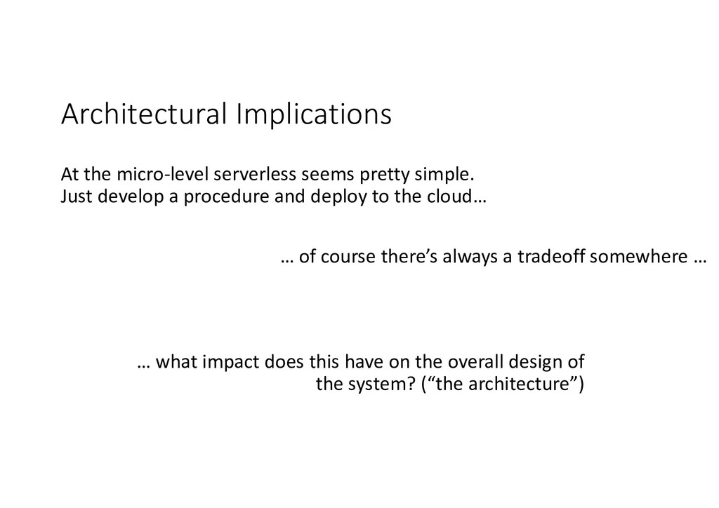 Architectural Implications At the micro-level s...