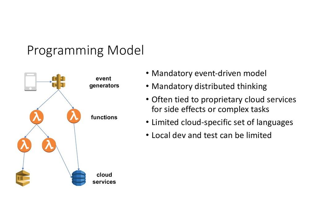 Programming Model event generators functions cl...