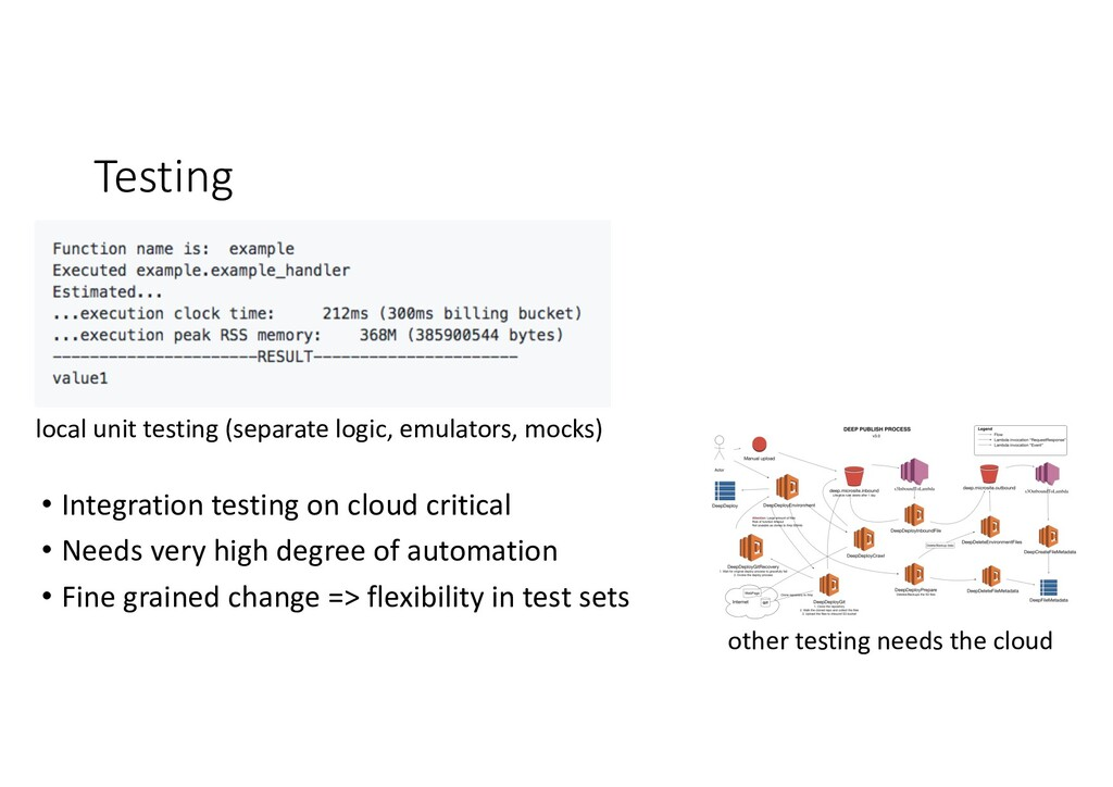 Testing local unit testing (separate logic, emu...