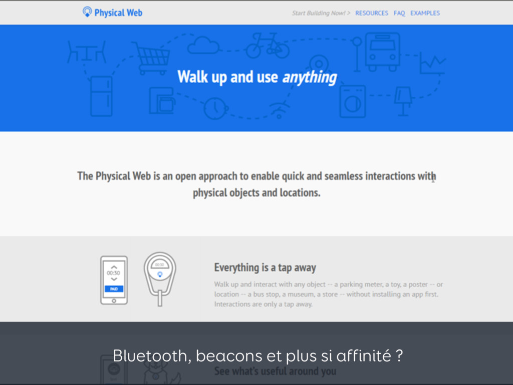 Bluetooth, beacons et plus si affinité ?